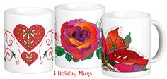 3 new Holiday mugs – wooee!