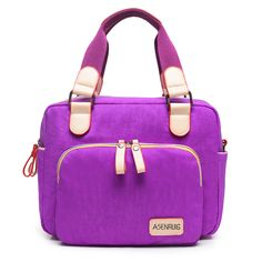 Women Casual Nylon Waterproof Tote Pattern Printing Shoulder Bag Crossbody Bags