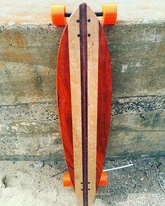 """Handmade Custom Pintail Skateboard 46""""x10"""" """"The Pinner"""""""