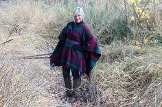 Un plaid, une ceinture et hop! un manteau en deux coups de ciseaux! – L'Humanosphère
