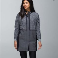 Lululemon Cocoon Car Coat Lululemon Coat snap button up with two side pockets and one hidden pocket inside of pocket. lululemon athletica Jackets & Coats