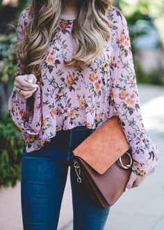 Floral Blouse with Ruffles | The Teacher Diva: a Dallas Fashion Blog featuring Beauty & Lifestyle