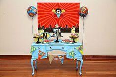 Sweet Table from a Superhero Birthday Party via Kara's Party Ideas KarasPartyIdeas. com (10)