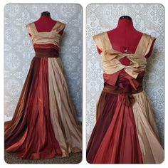 Vintage 1940's 50's Multicolored Floor Length Gown by pursuingandie, $310.00