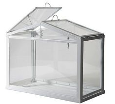 Glass box from IKEA - price is right - $19.99 but I have to drive to Atlanta to try and get it!