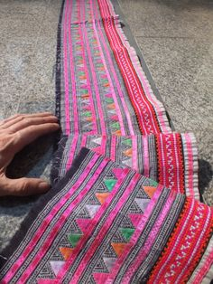 Handwoven Hmong  cotton, Vintage fabric Indigo  textiles and fabrics- from thailand. $34.99, via Etsy.