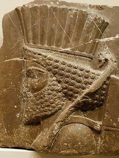 Cabeça de um guarda persa, arte Aquemênida.