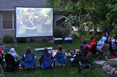 Outdoor Movie is a great party for teenagers. Movie + candy treats + bonfire = fun night. **Make sure you have good speakers.