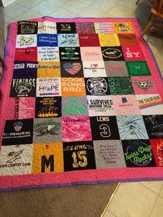 Graduating Senior T-shirt quilt deposit