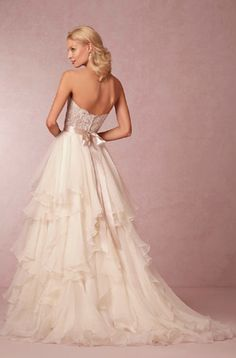 beautiful silk organza wedding skirt