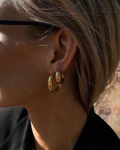 No Piercing Double Rings Nose Cuff/ Helix Ear Rings/ Rook piercing imitation/fake nose nostril piercing/faux anneau nez/falsch nasenring - Custom Jewelry Ideas Bar Stud Earrings, Gold Hoop Earrings, Bridal Earrings, Statement Earrings, Bridal Jewelry, Gold Jewelry, Diamond Earrings, Jewellery, Double Earrings