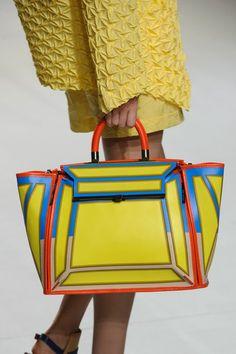 Colour Blocking Trend for Spring 2015 Issey Miyake at Paris Spring 2015 #bags #beautyinthebag #handbag