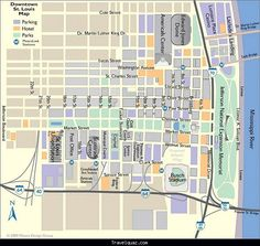 awesome Map of St. Louis Tourist