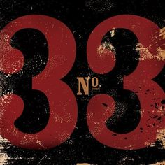 Number 33 thirty three typographic  graphic art giclee archival print 12 x 12. $29.00, via Etsy.