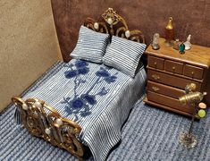 Flat Sheets, Bed Sheets, Bed Ensemble, First Flat, Bed Sheet Sets, Bed Spreads, Blue Flowers, Accent Pillows, Blue Stripes
