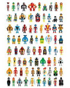 Pixelated Superheros are fun!