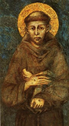 St Francis of Assisi Ex Indumentis R/Card+Relic Medal Touched Relic of Saint Catholic Prayers, Catholic Art, Catholic Saints, Patron Saints, Religious Icons, Religious Art, Fresco, St Francisco, Christian Art