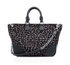 Tiffany & Co. | Item | Amelia tote in midnight black haircalf and onyx leather. | United States