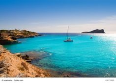 Cala Conta Beach (Platges de Comte), San Antonio, Ibiza - This is a popular beach near San Antonio. It can be reached by bus or car and by ferry from the port of San Antonio. This wonderful beach is an ideal place to enjoy the sun, soak up the atmosphere and catch some of the best sunset you will ever experience.