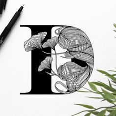 Very neat linework by - D Art And Illustration, Illustrations, Inspiration Artistique, Calligraphy Drawing, Letter Art, Letters, Typography Inspiration, Design Inspiration, Pen Art
