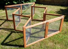 collapsible rabbit run - cool idea for rabbits and any other small ...