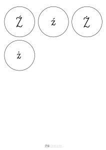litery w kółkach - szablon