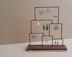 Esposizione dell'orecchino, orecchino Stand, organizzatore di orecchino, orecchino titolare, Stand di gioielli in acciaio, legno gioielli, prodotto Display, Display gioielli 125