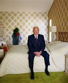 "Dad on Bed, 1984 from ""Pictures from Home"" by Larry Sultan"