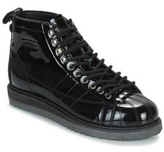 wholesale dealer d67d9 7c6f6 Adidas Originals Superstar Boot W Baskets Montantes Noir pas cher - Baskets  Femme Spartoo