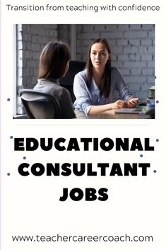 Educational consultant jobs are the top jobs that hire teachers - read about jobs for former teachers or second careers for teachers outside of the classroom. Jobs For Former Teachers, Summer Jobs For Teachers, Education Consultant, Education Jobs, Career Coach, New Career, Resume Tips, Career Change, Find A Job
