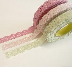 Rolls of pretty lace.