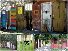 Old and unused doors taking the dust can have a second life in your garden! Here are some examples of old doors reused into nice and creative fences!