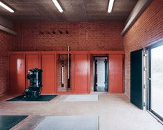 Image 2 of 37 from gallery of Skjern River Pump Stations / Johansen Skovsted Arkitekter. Photograph by Rasmus Norlander Exhibition Models, River Pictures, Architectural Section, Prefab Homes, Brutalist, Cladding, Denmark, Brick, Pumps