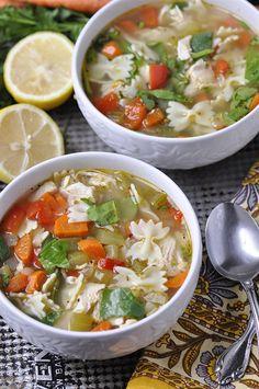 Lemon Turkey Noodle Soup
