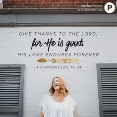Our hearts are grateful that we have a good God whose love never ends.