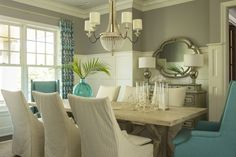 coastal dining room | Martha O'Hara Interiors