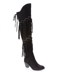 Look what I found on #zulily! Black Mykel Over-the-Knee Boot by Bucco #zulilyfinds