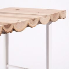 wood log table top. Photo by designboom I love this, but I would make it with different legs.  I love the scalloped look you get from the sides.  Alex????