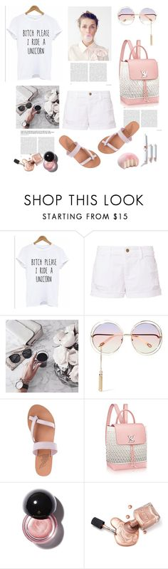 """""""Casual Friday"""" by lidia-solymosi ❤ liked on Polyvore featuring Frame, Chloé and Ancient Greek Sandals"""