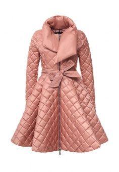 Пуховик, Odri, цвет: коралловый. Артикул: OD001EWLWT18. Женская одежда / Верхняя одежда / Пуховики и зимние куртки