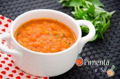 Receita de molho de tomate caseiro, muito simples, rápido e facil para dizer adeus ao molho pronto e industrializado. Molho de tomate caseiro