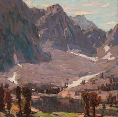 Renowned plein air painter Edgar Payne made his home in Laguna Beach where he started the Laguna Beach Art Association, and served as its first president. Impressionist Landscape, Impressionist Artists, Landscape Art, Landscape Paintings, Mountain Art, Mountain Landscape, Mountain Pics, Edgar Payne, American Impressionism