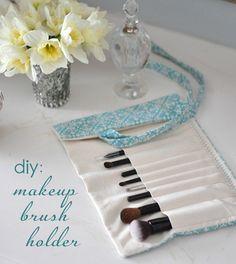 diy make up brush roll