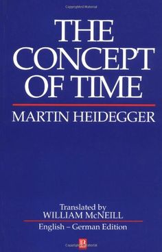 The Concept of Time by Martin Heidegger http://www.amazon.com/dp/0631184252/ref=cm_sw_r_pi_dp_N.dYub1ATJFYD