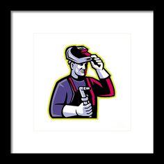 Mascot Framed Print featuring the digital art Welder Welding Torch Mascot by Aloysius Patrimonio Welding Torch, Diy Welding, Welding Projects, Welding Ideas, Metal Welding, Welding Certification, Shielded Metal Arc Welding, Welding And Fabrication, Tree Artwork