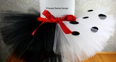 Cruella Deville Tutu, 101 Dalmatians Tutu, Disney Villain Tutu, Halloween Tutu, Run Disney Tutu, Infant/Toddler Tutu, Girls/Teen Adult by PrincessDanikaDesign on Etsy