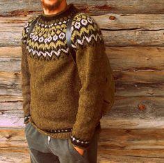 villahaka: Islantilainen neule miehelle