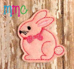 Bunny 2 Felt Feltie Embroidery Design by MommaMC on Etsy (Craft Supplies & Tools, Patterns & Tutorials, Sewing & Needlecraft, Embroidery, machine embroidery, felt, feltie, felty, pattern, Easter, easter bunny, bunny, rabbit)
