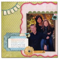 Spring My Mind's Eye Family Scrapbook Layout