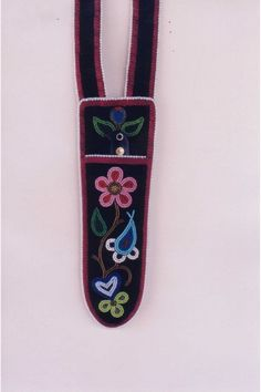 Floral seed beaded Metis scabbard, circa 1840
